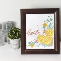 Home Décor piece using Close To My Heart Dreamin' Big Collection! It's such a simple way to add a splash of color and personality to any room.   #ctmh #dreaminbig #homedecor