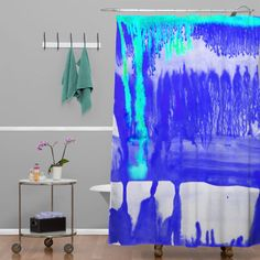 Buy Shower Curtain with Dip Dye Ultramarine designed by Amy Sia. One of many amazing home décor accessories items available at Deny Designs. Dip Dye Curtains, Textile Prints, Home Decor Accessories, Home Goods, Amy, Print Patterns, House Design, Shower, Rain Shower Heads
