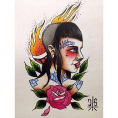 Arte Punk, Punk Art, Skinhead Tattoos, Skinhead Girl, Skin Head, Tumblr, Cool Tattoos, Tatting, Ink