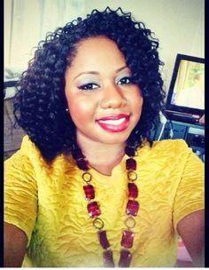 Crochet braids.....Hair: Bahama Curls by Model Model