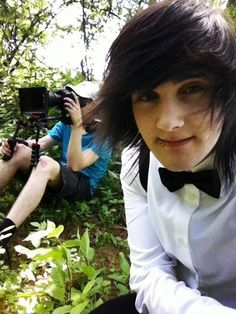 """He be all like """"ya know I'm going out in the woods. Imma wear a bow tie to impress mother Nature even more. Not that my face and my existence doesn't impress her enough"""" lol Braden ur so cute <3"""