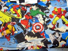 Marvel Comics Fabric (Think of the possibilities!)