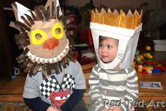 Paper bag craft ideas - Where the Wild Things Are - perfect for Sendak fans! Love this as dress up for World Book Day