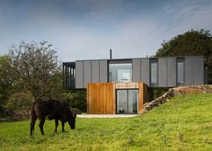 Four shipping containers were used to build this house.