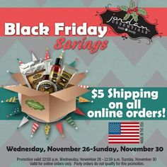 $5 shipping from now until Sunday November 30th! Get a hold of me TODAY to get your Christmas orders in! www.myjestore.com/holdur OR durrholly@yahoo.com