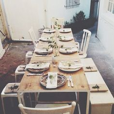 setting | the table