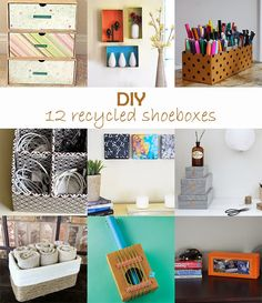 Ohoh Blog - diy and crafts: DIY Monday # Recycled shoeboxes