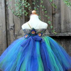 Peacock Thema Hochzeit Designer-Halloween-Kostüm von BloomsNBugs