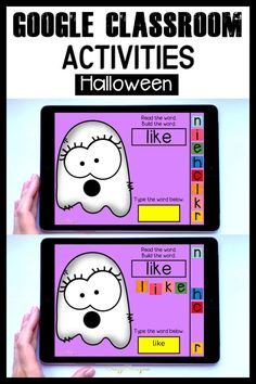 Word Games For Kids, Word Family Activities, Hands On Activities, Kindergarten Activities, Classroom Activities, Classroom Setup, Learning Activities, Teaching Ideas, Halloween Words