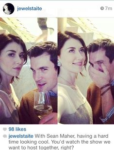 Jewel Staite and Sean Maher of Firefly are still bffs!