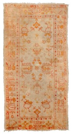 Oushak Angora Rug Number 11874, Antique Oushak Rugs (Turkish) | Woven Accents