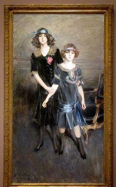 Muriel and Consuelo Vanderbilt, Giovanni Boldini, 1913