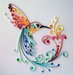 Quilling Art: L'oiseau du bonheur Art de papier par BestQuillings