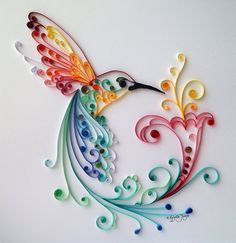 Quilling Art: Bird of Happiness by BestQuillings on Etsy