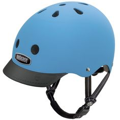 Nutcase Helmet - Street Bay Blue Matte Generation 3  I love this practical present for Angus who is almost 6. Its super stylish with the brim, and not too over-the-top for a shy little man who doesn't want the extra attention that comes from some of their louder designs.   #EntropyWishList  #PinToWin  #raisingboys