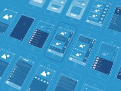 Wireframin' by Creativedash Mobile Web Design, App Ui Design, User Interface Design, Design Web, Flat Design, App Wireframe, Website Wireframe, Flat Ui, Smartphone
