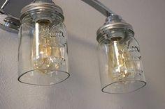 Open Bottom Ball or Kerr Mason Jar for Lighting Shade or