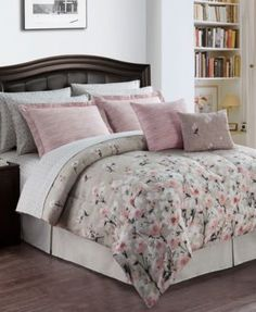 Romantic Garden Reversible 12-Pc. Comforter Sets | macys.com