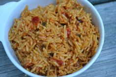 TIP GARDEN: Spanish Rice Master Mix - needs some seasoning added to suit us, but a good place to start Mexican Rice Recipes, Rice Recipes For Dinner, Mexican Dishes, Spanish Rice Seasoning, Instant Pot, Porcini Mushrooms, Spanish Food, Spanish Recipes, Comfort Food