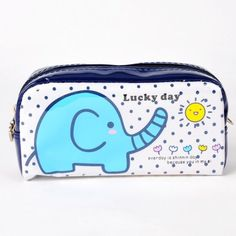 "Elephant Shaped Cosmetic Purse Makeup Bag White by ETHAHE. $15.00. Length x Height x Depth: 7.2"" x 4"" x 2.4"" (18 x 10 x 6 cm). Color: White. ·Made of durable material   ·Elephant pattern printed on cosmetic bag/pencil box    ·Zipper closure with heart shaped pendant for the main compartment   ·Large capacity, convenient to be used daily. Save 20%!"