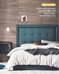 """18 Likes, 2 Comments - Heatherly Design Bedheads (@heatherlydesignbedheads) on Instagram: """"Such a delight seeing our new FINLEY in the @dailytelegraph recently. Born from our ever popular…"""""""
