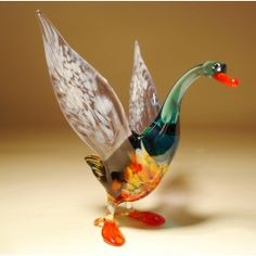 Glass Goose $25.95 http://www.glasslilies.com/88-glass-goose.html #Glass #Goose #Birds #Gifts #Figurine #BlownGlass #GlassArt