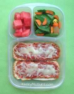Lunch Made Easy: GF Pizza Boats - School Lunch Ideas for Kids  @Udi G. G.'s Gluten Free Foods This would work with coconut flour flat bread or cauliflower pizza base.