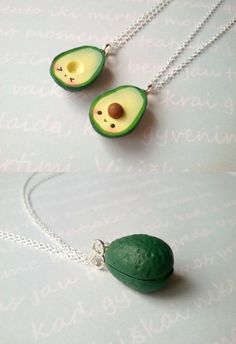 BFF Kawaii avocat collier, bijoux vegan, avocat bijoux, bijoux alimentaire miniature, meilleur ami, kawaii breloques, collier de l