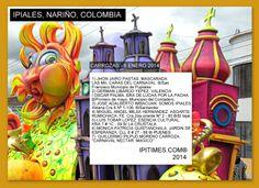 IPIALES, DEPARTAMENTO DE NARIÑO, COLOMBIA ||||| CARNAVAL DE N/B DE NARIÑO (L., 6 ENE 2014). CARROZAS QUE PARTICIPARAN HOY, 6 DE ENERO, EN LA CIUDAD DE IPIALES.