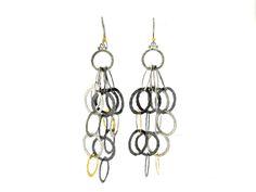 #Gurhanjewelry #sterlingsilver #yellowgold #earrings