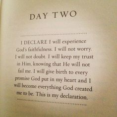 I will give birth to every promise God put in my heart for I trust in Him and His power