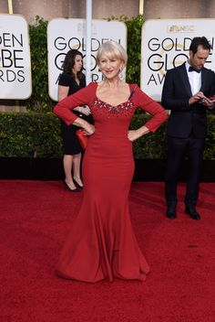 Helen Mirren attends the 72nd Annual Golden Globe Awards at The Beverly Hilton Hotel on January 11, 2015 in Beverly Hills, California.