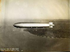Graf Zeppelin over San Francisco, CA