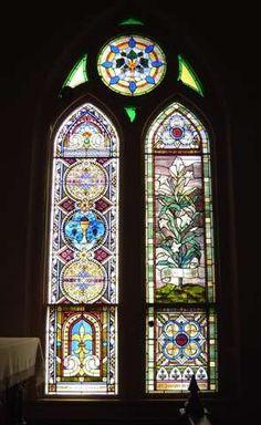 High Hill - St. Mary's Catholic Church Stained Glass Windows  ~  Photos by Garry Taylor, Austin, Texas
