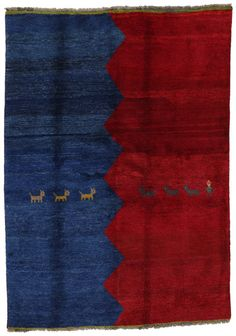 Gabbeh - Qashqai Persian Carpet 200x144