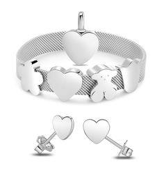 TOUS Basic pendant, Acero bracelet & Pixie earrings - sterling silver