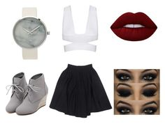 """""""Untitled #8"""" by avazamani ❤ liked on Polyvore featuring Le Mont St. Michel, WithChic and Lime Crime"""