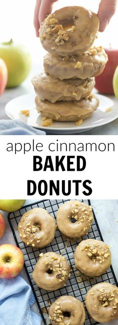 These Apple Cinnamon Baked Donuts are packed with apples (healthy ...
