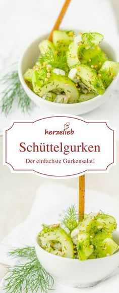 Salad Recipes Schüttelgurken are probably the simplest cucumber salad in the world. With this recipe … Easy Cucumber Salad, Cucumber Recipes, Healthy Eating Tips, Healthy Snacks, Healthy Recipes, Easy Smoothie Recipes, Easy Smoothies, Christmas Salad Recipes, Mexican Food Recipes