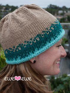 Ewe Ewe Sand & Sea Hat PDF Knitting Pattern