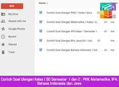 Contoh Soal Ulangan Kelas I SD Semester 1 dan 2 : PKN Matematika IPA Bahasa Indonesia dan Jawa