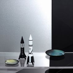 Rocket salt and pepper grinder white and black, the best gift for dad and for quirky restaurants in the UK, USA at Smithers funky stores call 435060