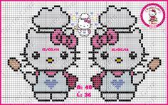 Hello Kitty chef pattern - Ponto Cruz e Mais