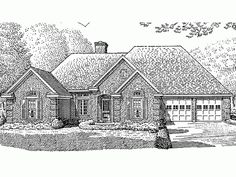 build your ideal home with this french country house plan with 3 bedroomss