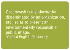 Groengele Spons : Greenwash