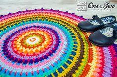 (4) Name: 'Crocheting :  Colorful Rug