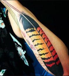 Tattoos by Tatu-Lu (Tattoo Lou) in the heart of Mullumbimby, NSW Australia. Native Australians, Botanical Tattoo, Feather Art, Arrow Tattoos, Tattoo You, Native Plants, Tattoo Inspiration, Watercolor Tattoo, Nativity