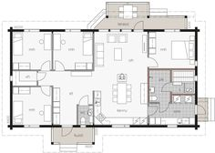 Bungalow, Floor Plans, Cabin, Home Decor, New Construction, Floor Layout, House, Homemade Home Decor, Cabins