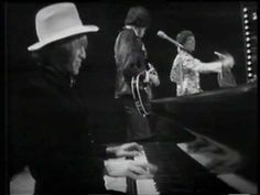 """▶ Rolling Stones LIVE - """"Let's Spend The Night Together"""" - on Top of the Pops, '67 - YouTube.  Brian Jones on piano; Bill Wyman on Vox Teardrop bass."""