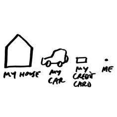DAN PERJOVSCHI    My House, my Car, my credit card, me